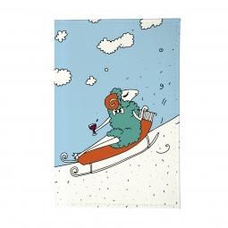 фото Обложка для паспорта Mitya Veselkov «Овечка на саночках»