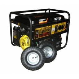 фото Электрогенератор с колесами и аккумулятором Huter DY6500LX