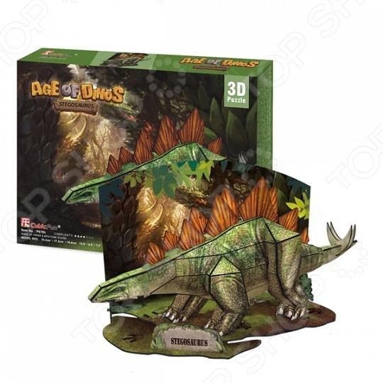 Пазл 3D CubicFun «Стегозавр»Пазлы 3D<br>Пазл 3D CubicFun Стегозавр это уникальный трехмерный пазл. Он состоит из 49 деталей, соединив которые, можно собрать настоящего динозавра. Такой подарок обязательно понравится юному палеонтологу. В готовом виде динозавр достигает 35 сантиметров в длину и 18 в высоту. Собранная своими руками модель займет почетное место на полке в детской комнате.<br>