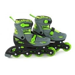 фото Коньки роликовые Moby Kids 2в1. Цвет: зеленый. Размер: 34-37
