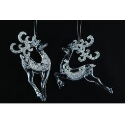 Купить Елочное украшение Crystal Deco «Олень» 1707599. В ассортименте