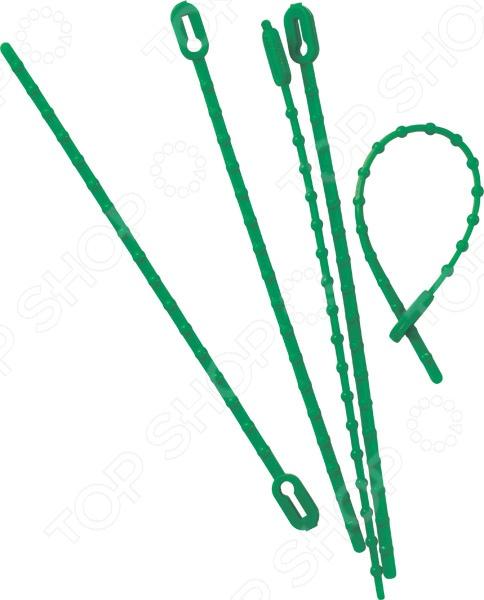 Хомуты садовые Archimedes 90814Поддержка для растений<br>Хомуты садовые Archimedes 90814 необходимый предмет в инвентаре каждого садовода. С их помощью закрепляются макушки, ветки, стебельки, которые могут расти неправильно. Вы можете закрепить отростки огурцов на изгороди и не переживать, что тяжелые овощи оттянуть ветки к земле.<br>