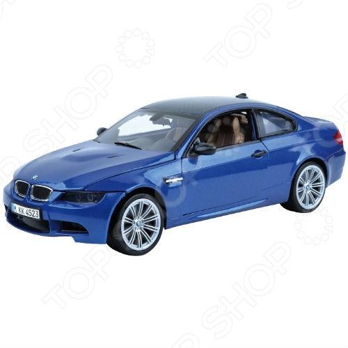 Модель автомобиля 1:18 Motormax BMW M3 Coupe 2008. В ассортиментеМодели авто<br>Товар продается в ассортименте. Цвет изделия при комплектации заказа зависит от наличия товарного ассортимента на складе. Модель 1:18 BMW M3 представляет собой точную копию настоящего немецкого купе. Коллекционная модель выпущена известной компанией по производству игрушек Motormax. Особенность коллекции в том, что все модели изготовлены по лицензии именитых автопроизводителей. Машина изготовлена из металла с элементами пластика и обладает потрясающей детализацией. У нее открываются капот, багажник, двери, вращаются и поворачиваются колеса. В самых мельчайших подробностях можно рассмотреть моторный отсек и панель приборов. Яркий автомобиль разнообразит игровые ситуации, откроет новые сюжеты для маленького автолюбителя и поможет развить мелкую моторику рук, внимание и координацию движений. Модель 1:18 BMW M3 является отличным подарком не только ребенку, но и коллекционеру.<br>