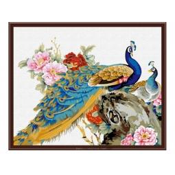 Купить Набор для рисования по номерам «Белоснежка» Китайские павлины