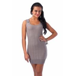 фото Туника вязаная Mondigo 9762. Цвет: серый. Размер одежды: 42