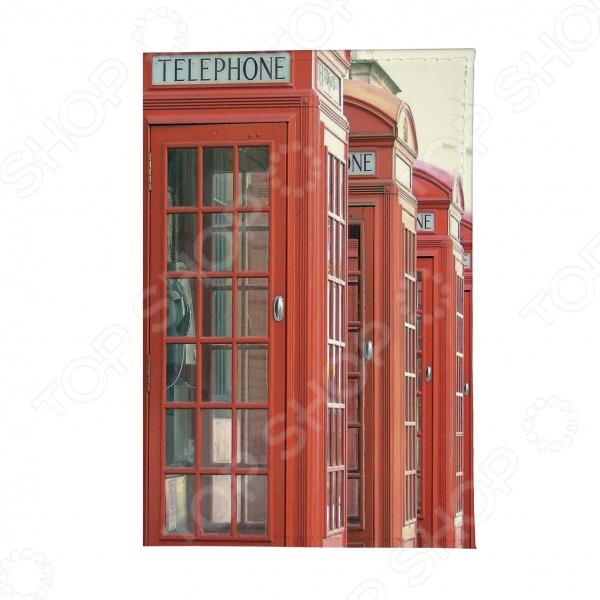 Обложка для паспорта Mitya Veselkov «Будка в Лондоне» обложка для автодокументов mitya veselkov будка в лондоне