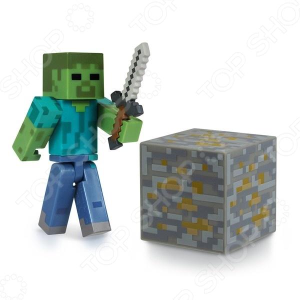 Фигурки Minecraft «Зомби» набор игровой c фигуркой и аксессуарами minecraft зомби