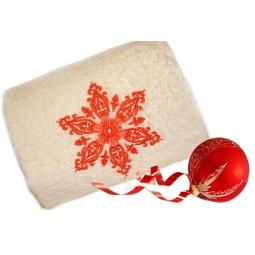 фото Полотенце подарочное с вышивкой TAC Snow flower. Цвет: бежевый