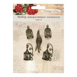 фото Набор декоративных элементов для вышивки Vintage Line 438178