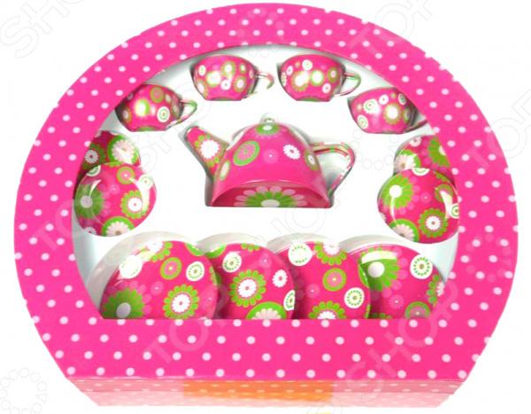 Набор посуды игрушечный 1 Toy «Чайный сервиз»Сюжетно-ролевые наборы<br>Набор посуды игрушечный 1 Toy Чайный сервиз станет чудесным подарком для вашей любимой доченьки. Малышка попробует себя в роли маленькой хозяюшки и поможет маме накрыть на стол. Такие сюжетно-ролевые игры не только увлекательны, но и весьма познавательны для ребенка, способствуют развитию воображения, фантазии и когнитивного мышления. В игровой набор входит все необходимое: чайник, чашечки, блюдца и тарелочки. Посудка выполнена из высококачественного металла и покрыта стойкими нетоксичными красками. Предназначено для детей в возрасте от 3-х лет.<br>