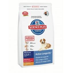 фото Корм сухой для пожилых собак средних пород Hill's Science Plan Mature Adult Medium 7+ с курицей. Вес упаковки: 12 кг