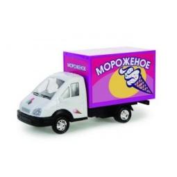 фото Машинка инерционная АВТО ПО-РУССКИ «Газель-автолавка. Мороженое»