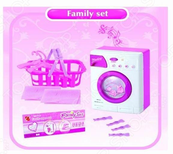 Стиральная машина игрушечная Family set 1707229 ролевые игры dolu игрушечная стиральная машинка