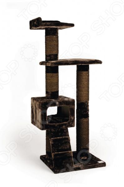 Комплекс для кошек Beeztees 408847 «Могущественный Кот» комплекс для кошек угловой с полками лестницей и канатом beeztees 405770