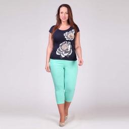 фото Брюки женские Milana Style «Элен». Цвет: голубой. Размер одежды: 58