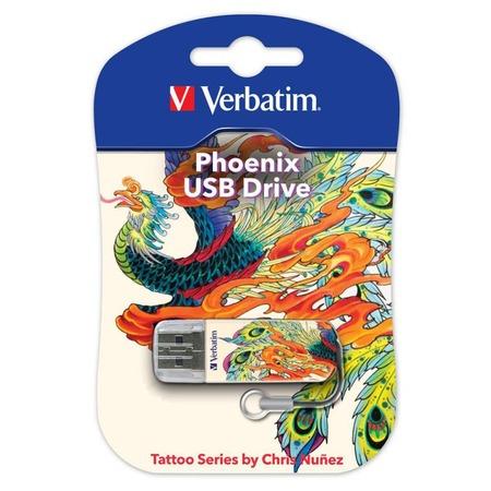 Флешка Verbatim Store 'n' Go Mini Tattoo Edition Phoenix 16Gb