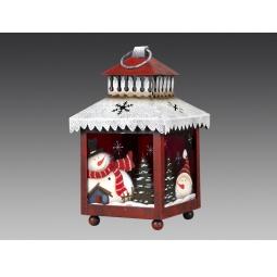 фото Фонарь рождественский Holiday Classics со снеговичками 1709363