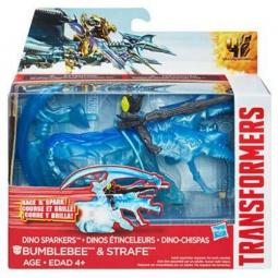 Купить Робот-трансформер Hasbro A6495 «Дино Спарклс Бамблби и Стрейф»