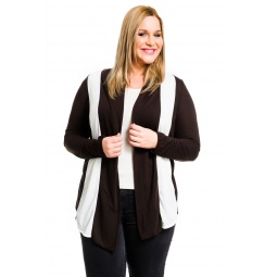фото Кардиган Mondigo XL 8513. Цвет: коричневый. Размер одежды: 52