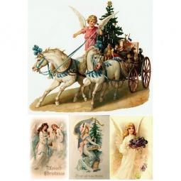 Купить Декупажная карта Karalliki «Счастливого Рождества!»