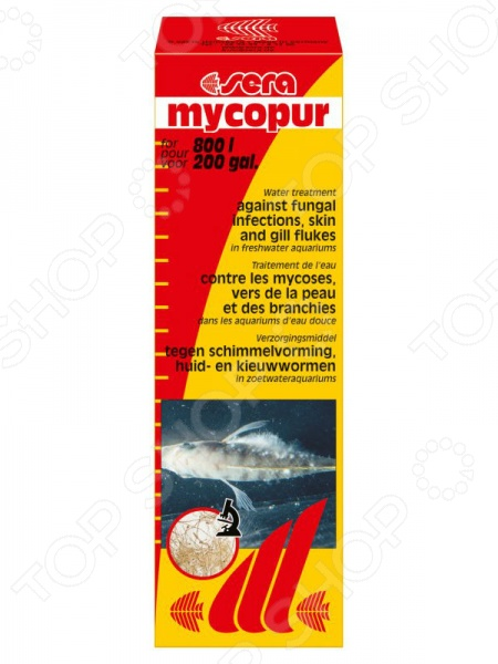 Средство лекарственное для аквариумных рыб Sera Mycopur средство для воды sera baktopur direct 24 таблетки