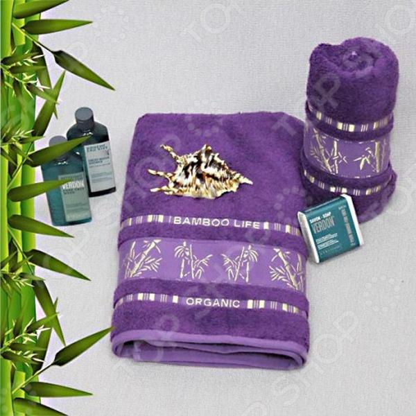 Полотенце махровое Mariposa Tropics violet