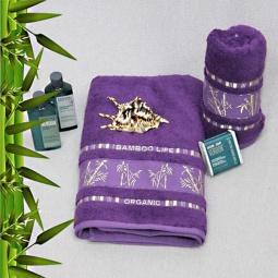 фото Полотенце махровое Mariposa Tropics violet