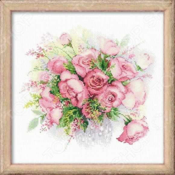 Набор для вышивания Сотвори Сама «Акварельные розы»Наборы для вышивания<br>Набор для вышивания Сотвори Сама Акварельные розы это набор для вышивания, который точно понравится вашей дочке, ведь с его помощью так легко создать красивую картину! С помощью элементов набора вы сможете создать эскиз, который будет схож со старыми фотоснимками. Цвета передадут незабываемую атмосферу вышитых картин, картина скрасит ваш досуг и позволит отточить свои навыки в сфере вышивания. Своими руками вы сможете создать уникальные изображения, которыми можно украсить дом или офис. В комплекте: канва, нити, игла и цветная схема рисунка.<br>