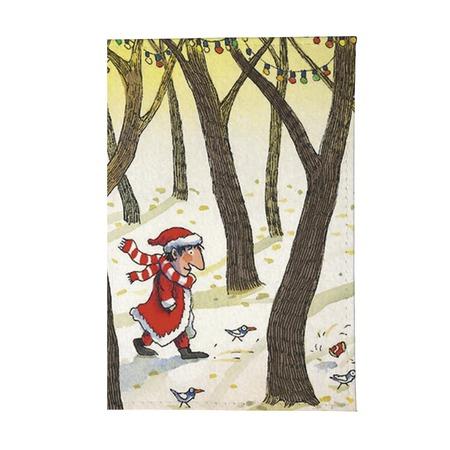 Купить Обложка для паспорта Mitya Veselkov «Дед Мороз в лесу»