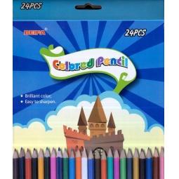 фото Набор карандашей цветных Beifa «Воздушный замок»: 24 цвета