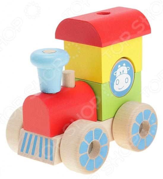 Конструктор для малышей Alatoys «Каталка-паровозик» ККП02 Конструктор для малышей Alatoys «Каталка-паровозик» ККП02 /