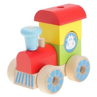 Купить Конструктор для малышей Alatoys «Каталка-паровозик» ККП02