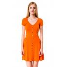 Фото Платье Mondigo 7055. Цвет: оранжевый. Размер одежды: 48