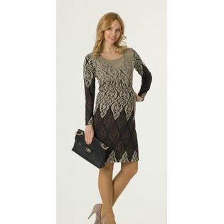 Купить Платье для беременных Nuova Vita 2101.04. Цвет: коричневый, темно-бежевый