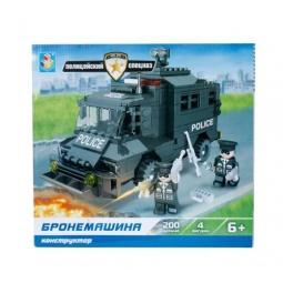 Купить Конструктор игровой 1 Toy «Полицейский спецназ. Бронемашина»