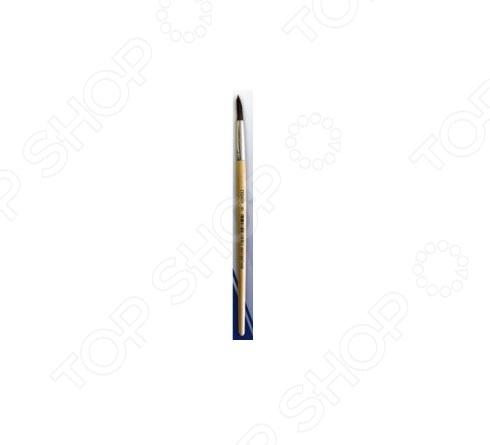 Кисть круглая Beifa «Пони» №5Кисти. Мастихины<br>Кисть круглая Beifa Пони 5 великолепно подходит для работы водорастворимыми красками: акварелью, темперой и гуашью. Кисть из волоса пони хорошо впитывает и отдает краску, причем волос относится к оформительской группе, потому не имеет вершинки, а в конус собирается за счет формы рабочей части. Удобная деревянная ручка не будет отвлекать от работы и позволит без устали работать длительные промежутки времени.<br>
