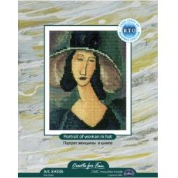 Купить Набор для вышивания RTO «Портрет женщины в шляпе»