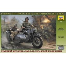 Купить Сборная модель Звезда немецкий мотоцикл БМВ Р-12 с коляской