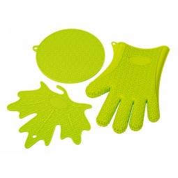 фото Набор кухонных аксессуаров Oursson SA2803S. Цвет: зеленый