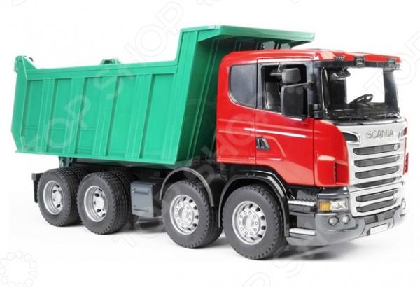 Самосвал игрушечный Bruder Scania машины bruder лесовоз scania с портативным краном и брёвнами