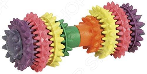 Игрушка для собак Beeztees «Гантель шипованная» 625415 игрушка для животных каскад удочка с микки маусом 47 см