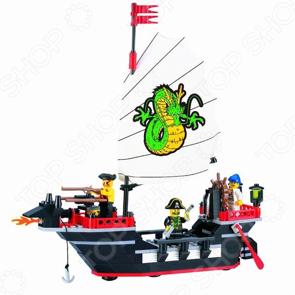 Игровой конструктор Brick «Пиратский корабль» 301 игровой набор для ванны tomy пиратский корабль