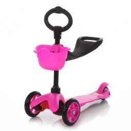 фото Самокат трехколесный MaxiScooter 21st scooter. Цвет: розовый