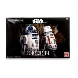 фото Сборная модель супер-героя Bandai R2-D2 & R5-D4