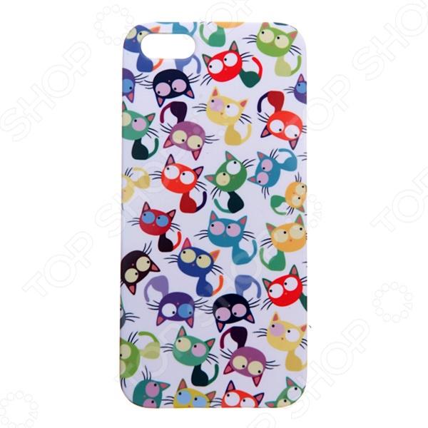 Чехол для iPhone 5 Mitya Veselkov «Много кошек» чехол для iphone 5 mitya veselkov газировка