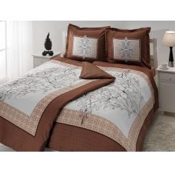 фото Комплект постельного белья TAC Caron. Семейный. Цвет: коричневый