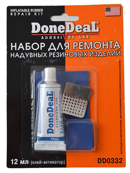 Набор для ремонта камер и надувных резиновых изделий Done Deal DD 0332 высокотемпературный бандаж для ремонта глушителя done deal dd 6789