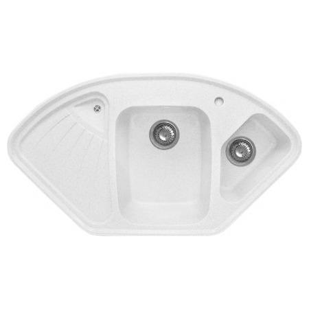 Купить Мойка кухонная GranFest Corner GF-C1040E. Цвет: белый