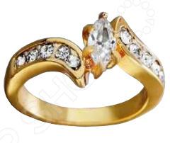 Кольцо Искры любвиКольца<br>Кольцо Искры любви с центральным белым кристаллом алмазной огранки Маркиз закрепленным шестью крапанами, слева и справа от него по 5 кристаллов круглой огранки корнеровой закрепки. Кольца, как и все изделия коллекции Диаманит , имеют покрытие 24 К золота, выполненное методом гальванопластики. В бижутерии очень важно, чтобы изделия имеющие контакт с телом не вызывали аллергию, поэтому все украшения покрыты драгоценными металлами: золото, серебро, родий. существует два способа нанесения драгоценного металла на основу напыление и гальванический метод. Напыление не создает прочного слоя, а всего лишь придает изделиям золотой или серебряный блеск. Такое покрытие не может быть устойчивым и быстро стирается. Гальванический метод позволяет наносить толстый слой, который гарантирует прочность и долговечность покрытия.<br>