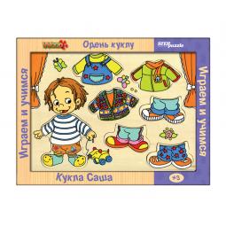 фото Игра развивающая Step Puzzle Одень куклу. Кукла Саша